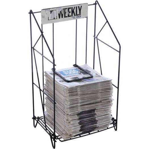 newspaper rack 1. wonderful rack newspaper wire rack  1 shelf la weekly black intended newspaper rack t