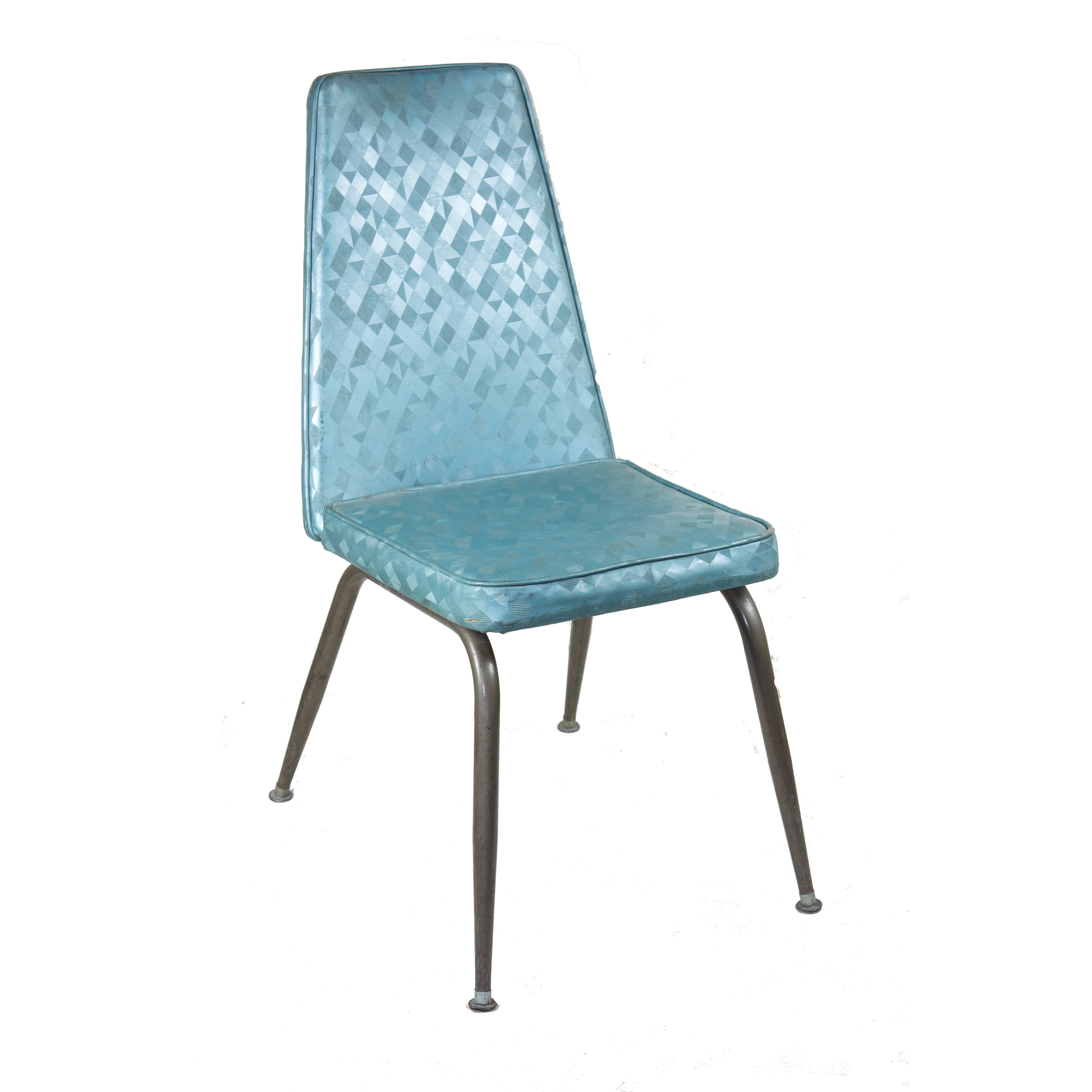Chair 60s style blue metallic air designs for Sixties style chairs