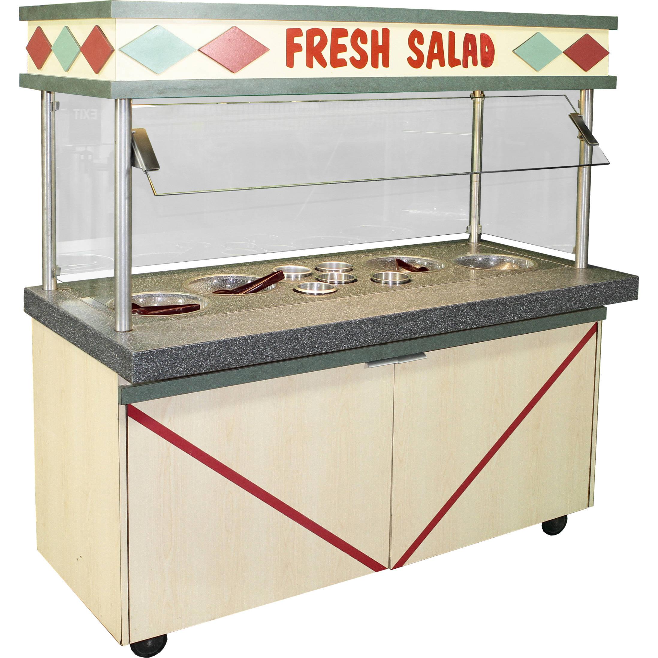 salad bar w sneeze guard fresh salad