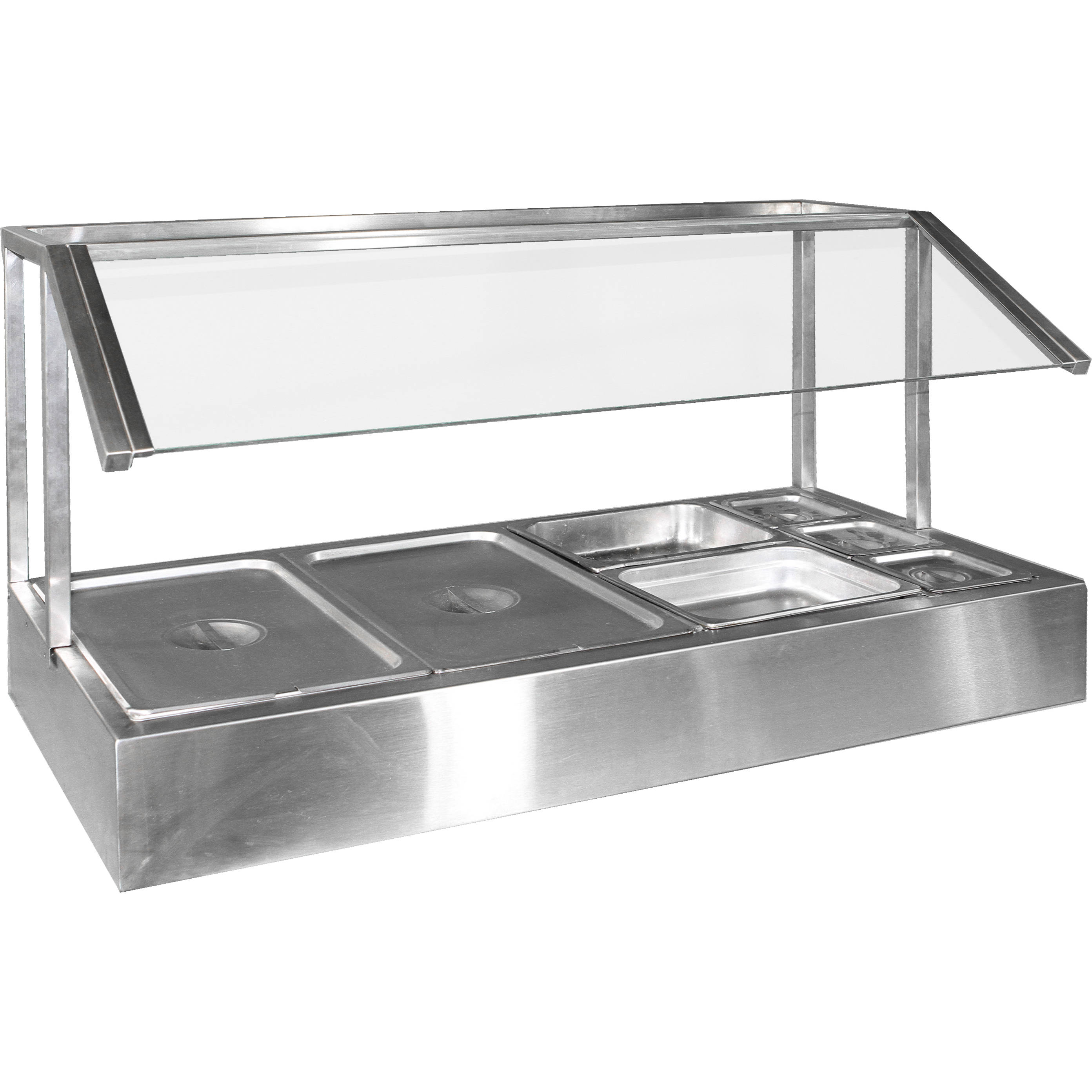 Salad bar w sneeze guard countertop air designs - Sneeze guard for steam table ...