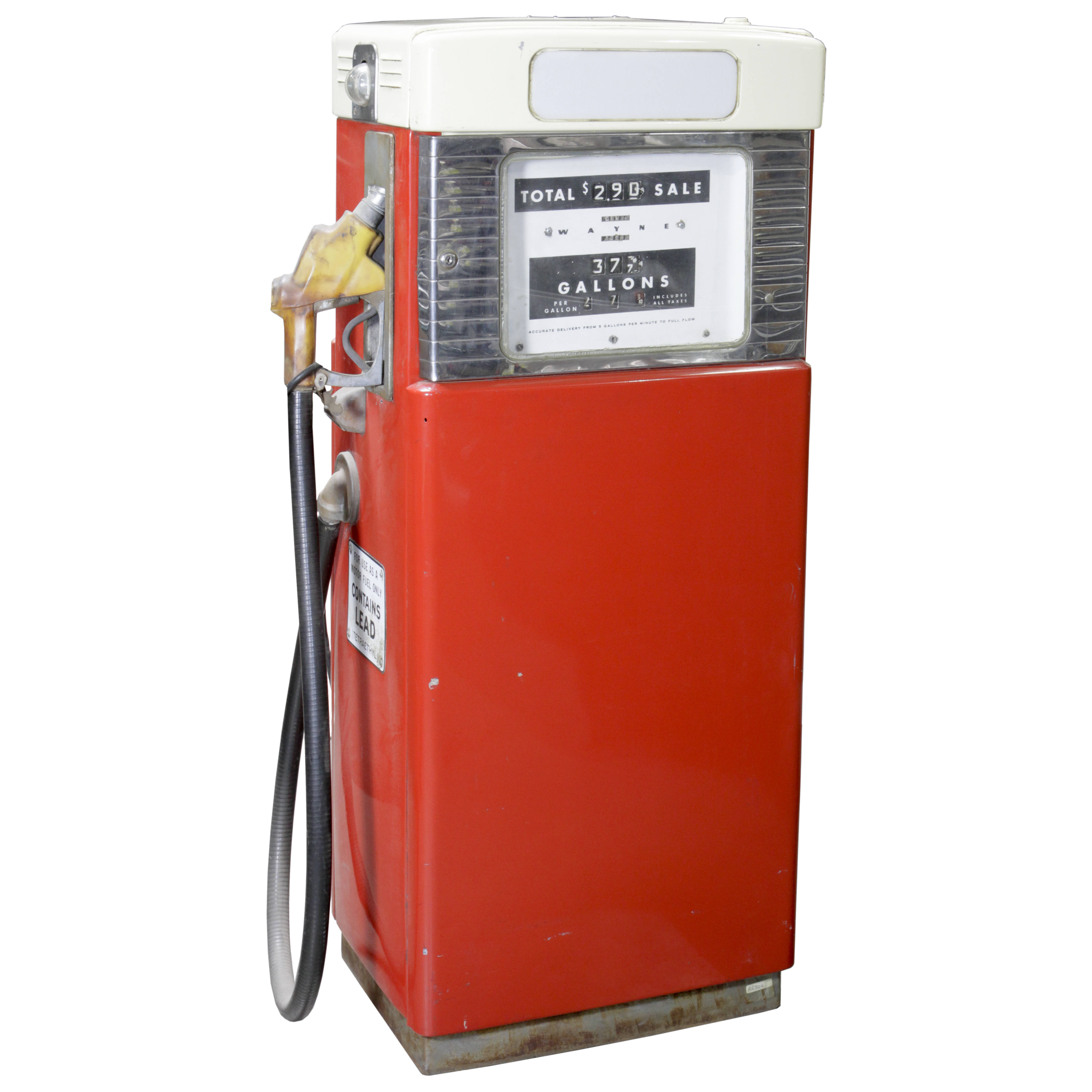 gas pump wayne 505 red u0026 cream