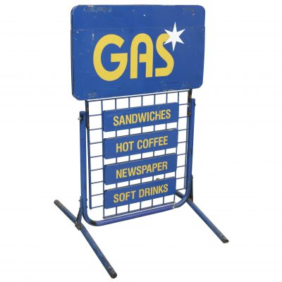 GAS STATION CURB SIGNS