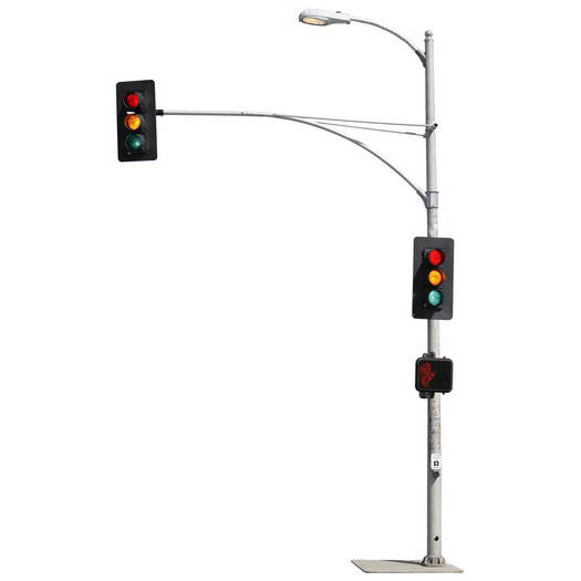 Light Pole Design: TRAFFIC LIGHT W/ CROSSWALK / INTERSECTION BOOM