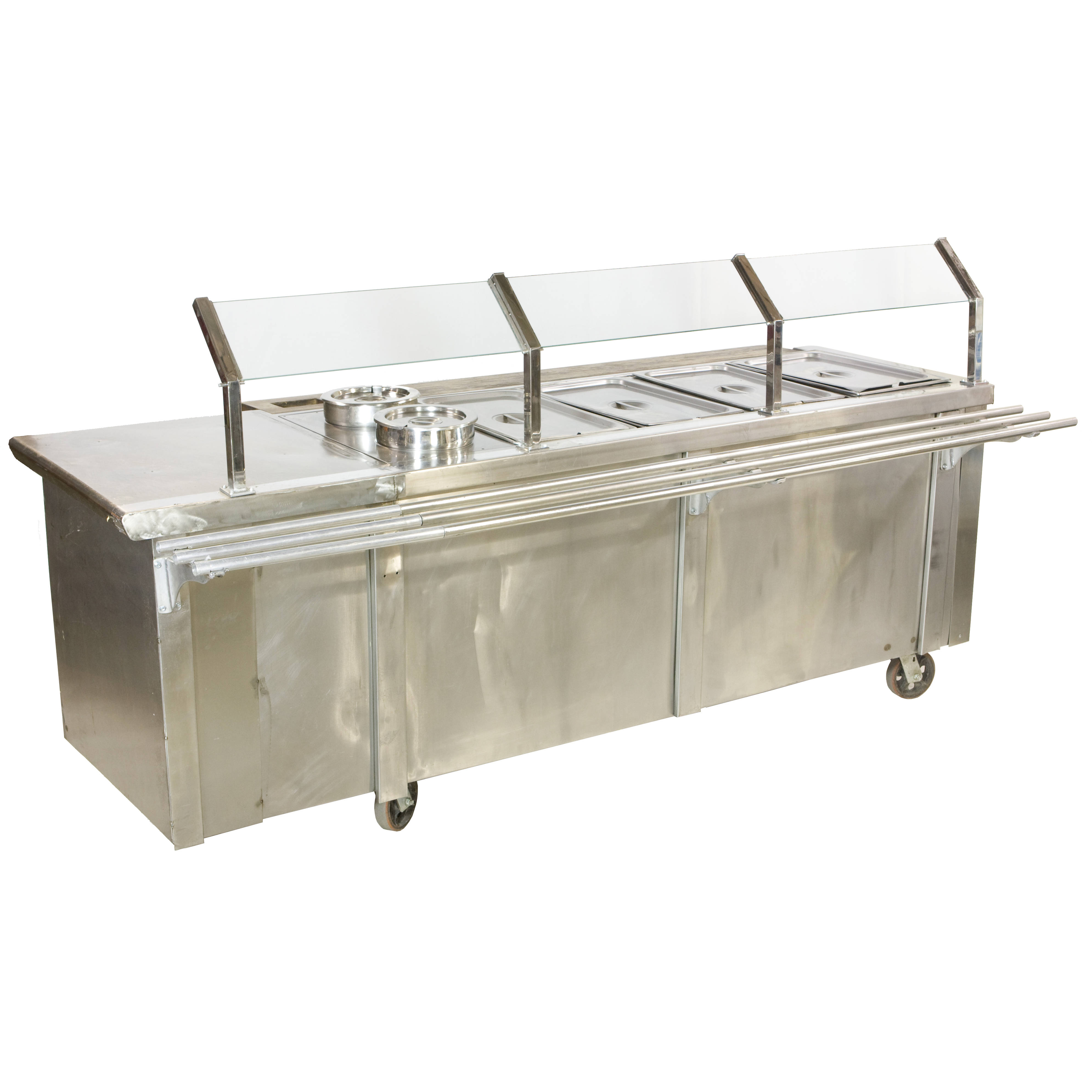 CAFETERIA SECTION STEAM TABLE W TRAY RAIL Air Designs - Cafeteria steam table