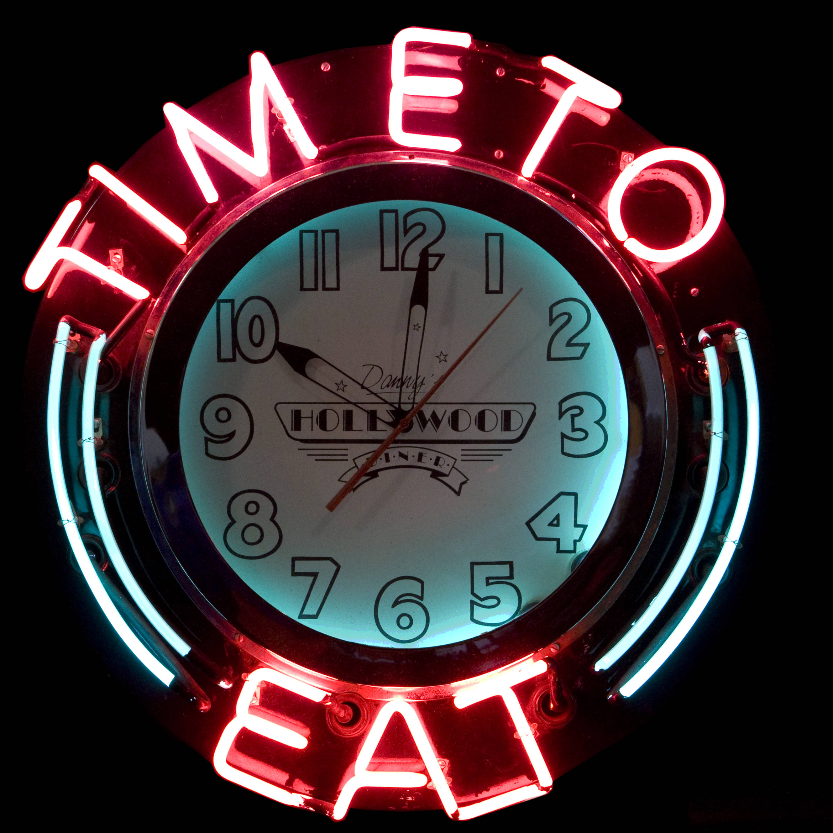 TIME TO EAT / NEON CLOCK SIGN | Air Designs