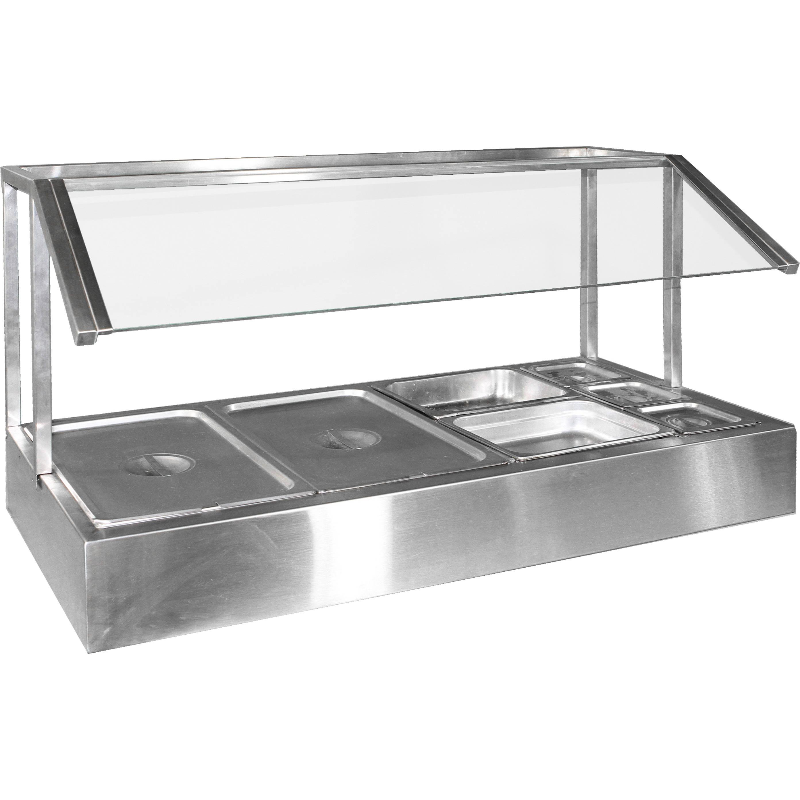 Salad Bar W Sneeze Guard Countertop