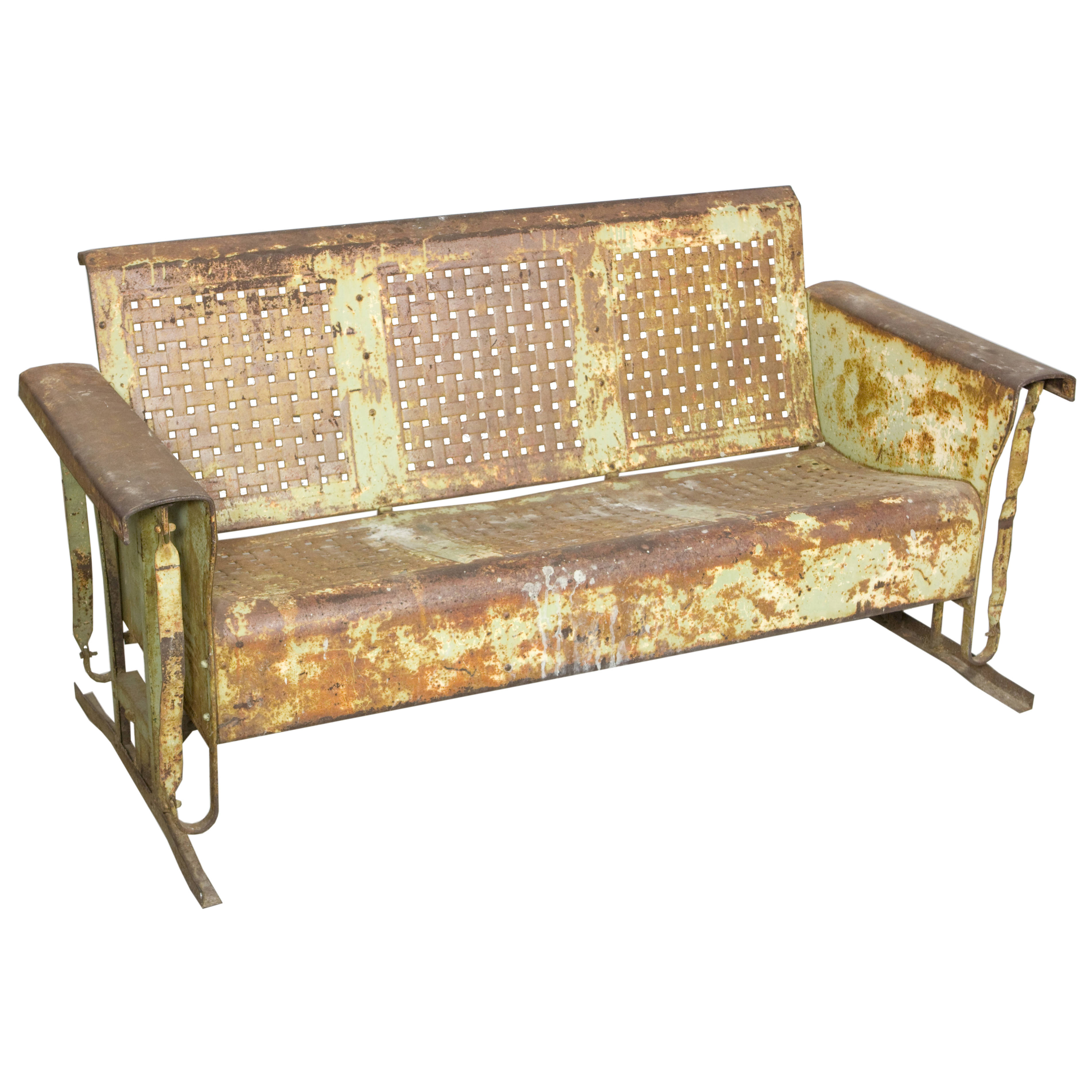 Couch Metal Glider Aged Air Designs