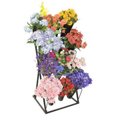 FLOWER DISPLAY CASES & STANDS