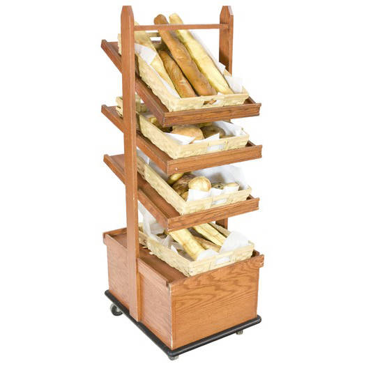 Bread Display Rack 4 Shelf Dark Wood Air Designs
