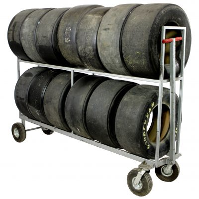 RACING TIRE RACKS & TIRES